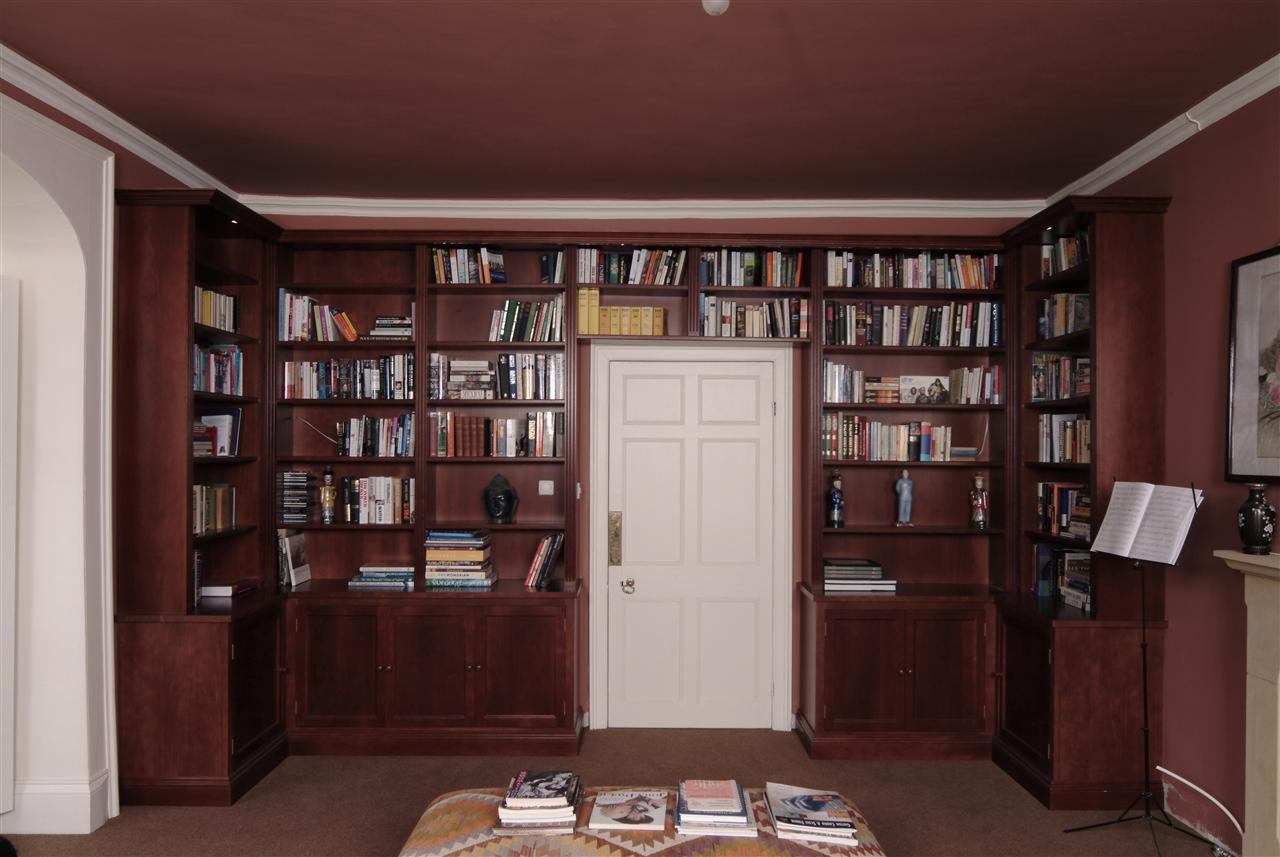 Dark wood Library Bookcase