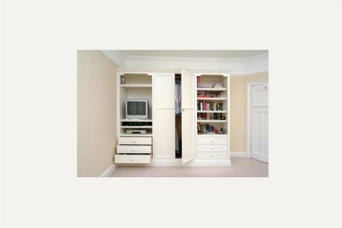 Wardrobe with Bookcase & drawers