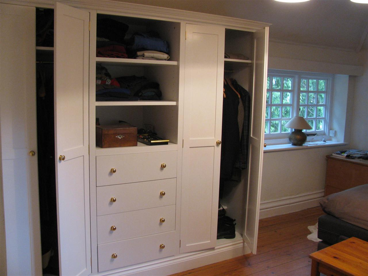 Wardrobe with bookshelves